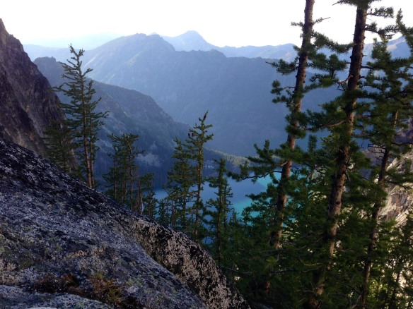 Colchuck Lake from Asgard Pass in the Central Cascades... a 2200' gain over one mile.